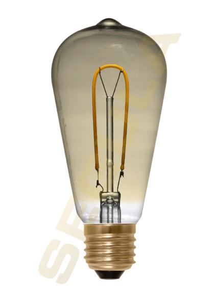 LED Rustika Curved gold, E27, 50530