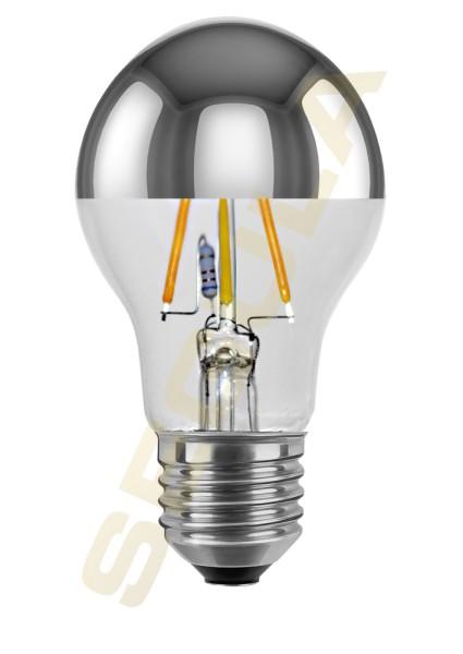 LED Glühlampe Spiegelkopf silber, E27, 50280