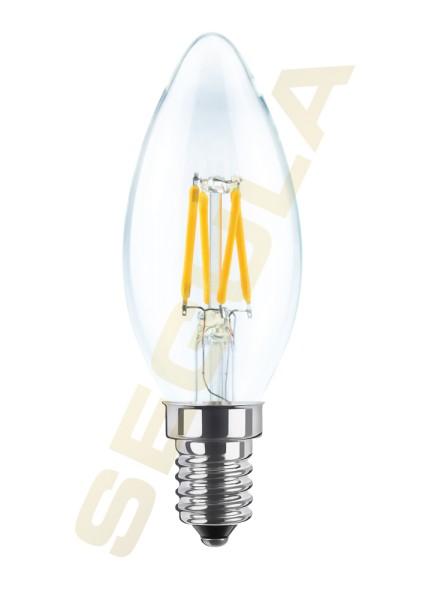LED Kerze klar E14 2600K 50341