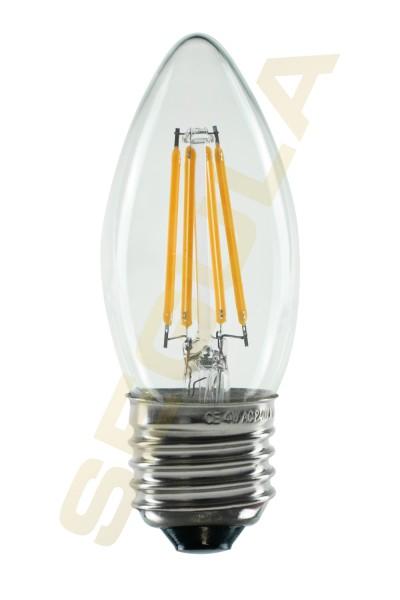 LED Kerze klar, E27, 50314