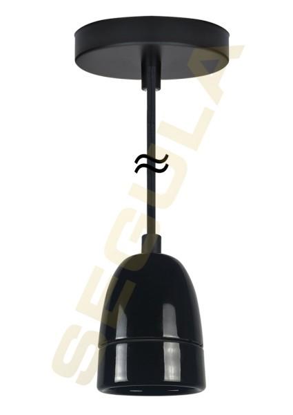 50584, Pendelleuchte Porzellan schwarz, E40