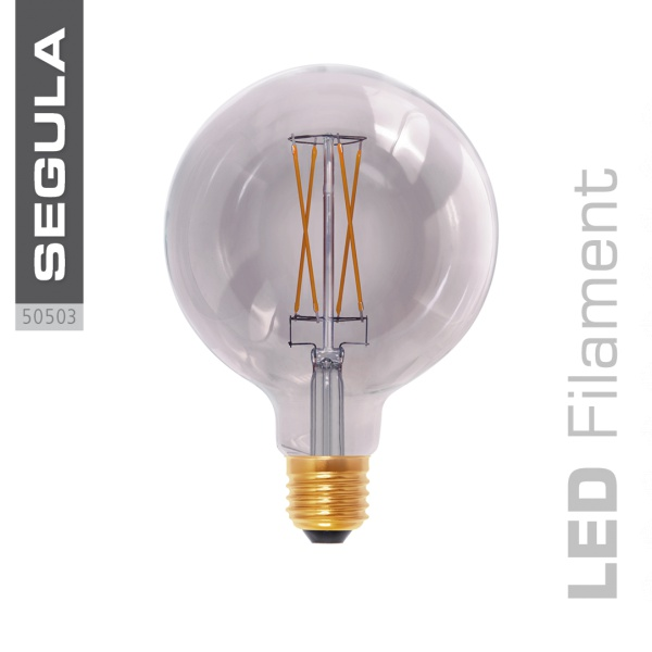 LED Smokey Globe grey |E27|6,0 W (25 W)|250 Lm|2.000 K|