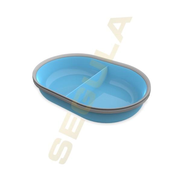 70927 SureFeed Split Schale blau 2 x 200 ml