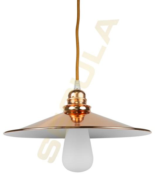 80517, Lampenschirm Metall, kupfer-weiß, E27