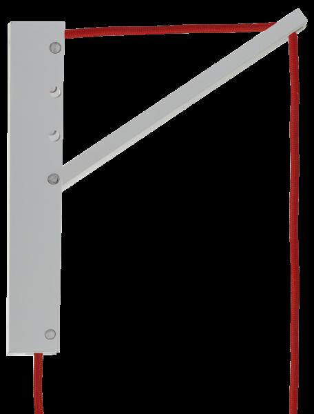 Pinocchio SET, Wandhalterung weiß mit Pendelleuchte Textilkabel rot mit Schalter, E27, 80531