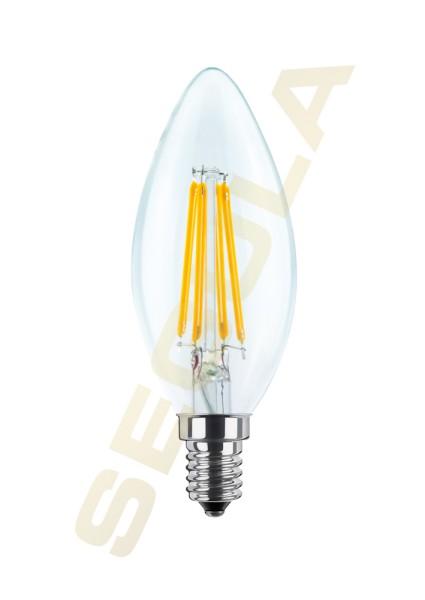 LED Kerze klar, E14, 60810