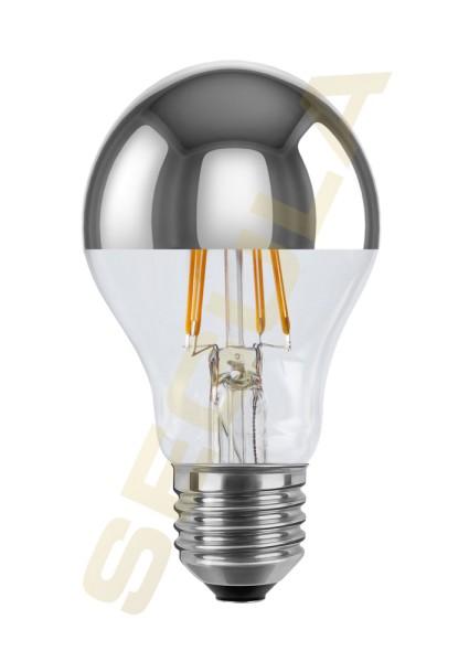 LED Glühlampe Spiegelkopf silber E27 50369
