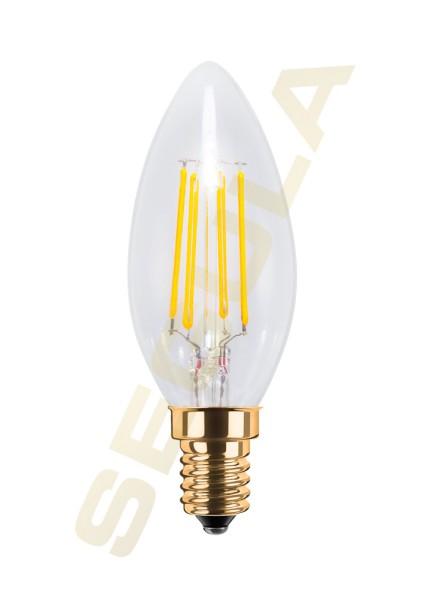 LED Kerze klar E14 2200K 50253