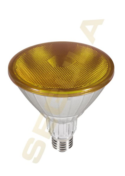 LED Reflektor PAR 38 gelb, E27, 50761