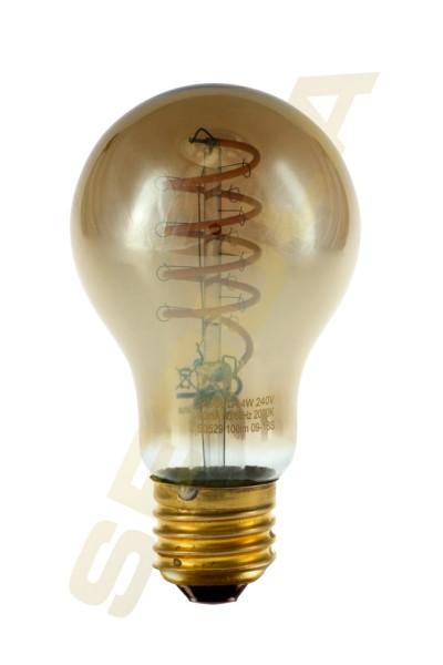 LED Glühlampe Curved Spiral grau E27, 50529