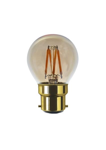 LED Golfball golden, B22, 50834