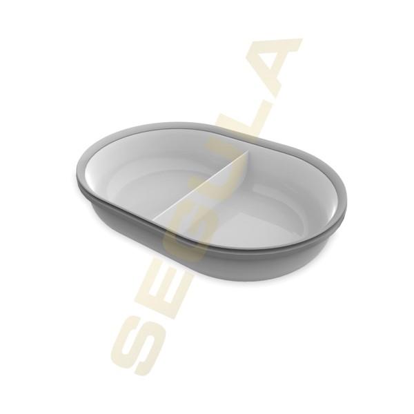 70930 SureFeed Split Schale grau 2 x 200 ml