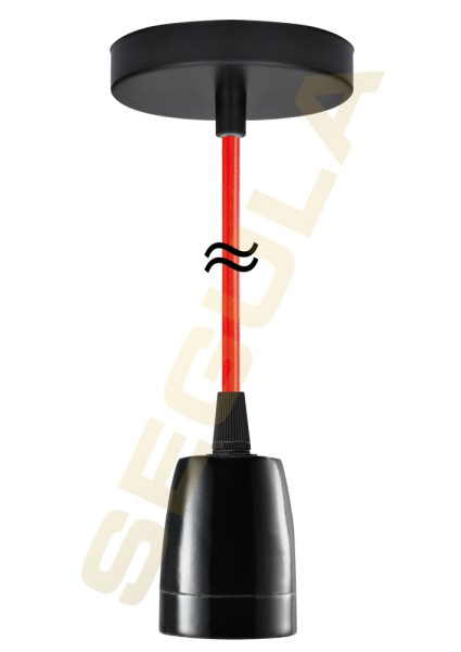 Pendelleuchte New York porzellan schwarz rot 50575