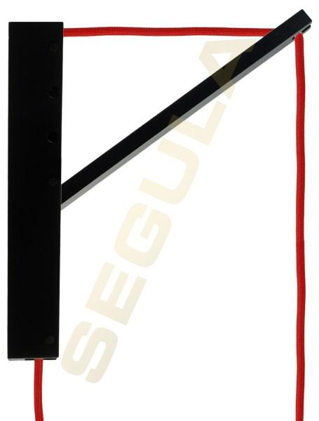 SET Pinocchio schwarz, Pendelleuchte E27 mit Schalter, Textilkabel rot, 80533