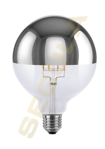 LED Globe 125 Spiegelkopf silber E27 50686
