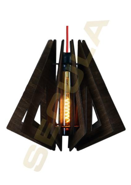 70006 Wood light UAKARI Farbe: dark forest [ E27 | 2m | Sockel Schwarz