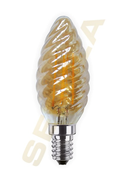 LED Kerze Twist gold E14 60371