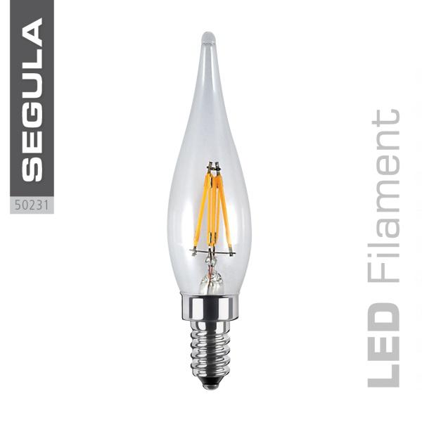 LED FRENCH Kerze, klar [E10|1,5 W (9 W)|90 Lm|2.600 K]