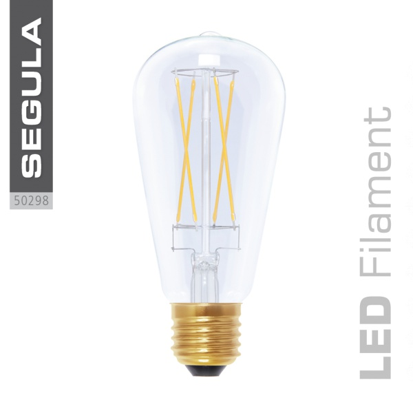 LED Rustika klar, Long Style |E27|6,0 W (40 W)|470 Lm|2.200 K|