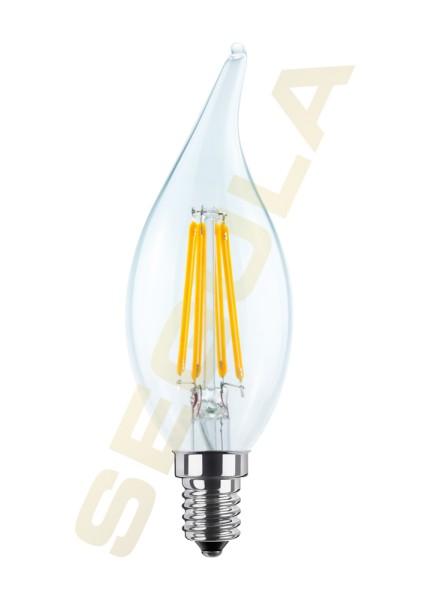 LED Kerze Windstoß, klar, E14, 60812