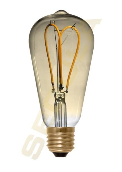 LED Rustika Curved Loop gold, E27, 50531