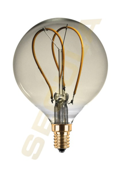LED Globe 80 Curved Loop gold E14 50523