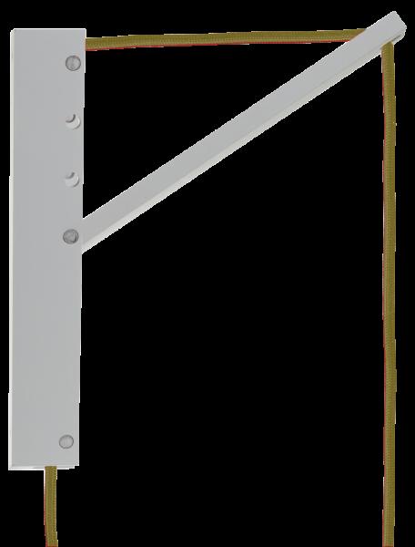 Pinocchio SET, Wandhalterung weiß mit Pendelleuchte Jutekabel mit Schalter, E27, 80530
