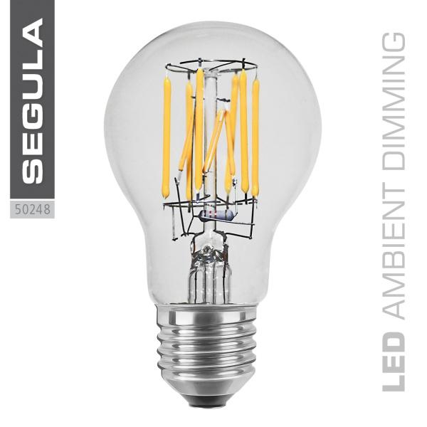 LED AMBIENT DIMMING Glühlampe, klar [E27|8,0 W (48 W)|600 Lm|2.200 -2.900 K]