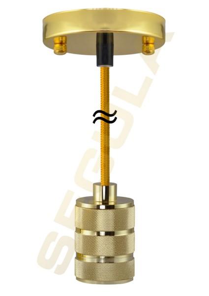 Pendelleuchte Vegas goldfarben E27 50565
