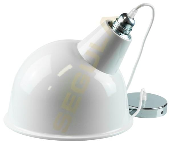 80518, Hängelampe weiß, Metall Lampenschirm