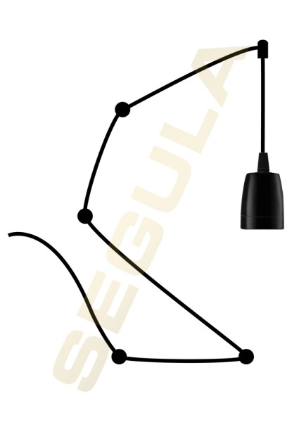 50587, Pendelleuchte Porzellan schwarz, E40