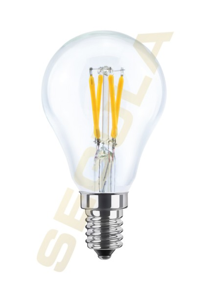 LED Tropfenlampe klar, E14, 50323