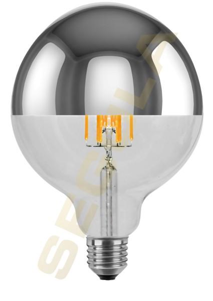 LED Globe 125 Spiegelkopf silber, E27, 50281