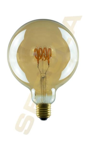 LED Globe125 Curved, Gold, E27, 50537