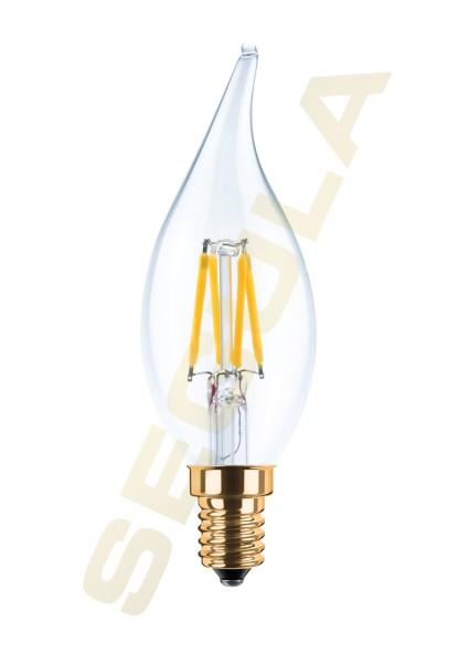 LED Kerze Windstoß klar E14 2200K 50206