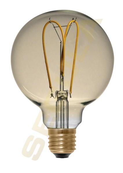 LED Globe 125 Curved Loop gold E27 50541