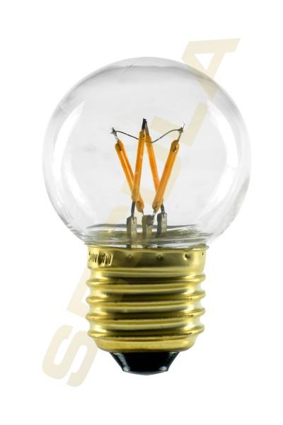 50209 LED Golfball klar Kunststoff stoßfest |E27|2 W (12 W)|120 Lm|2.200 K|