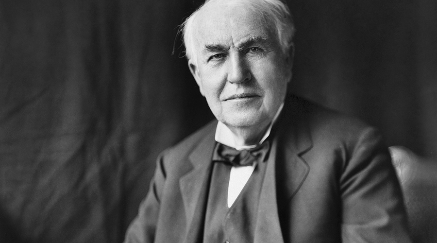 Thomas Alva Edison, Glühbirne, Glühlampe, Haushaltsstrom, Nutzung der Glühlampe, elektrisches Licht, Erfindung der Glühbirne
