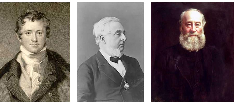 Erfinder, Humphry Davy, Warren de la Rue, James Prescott Joule